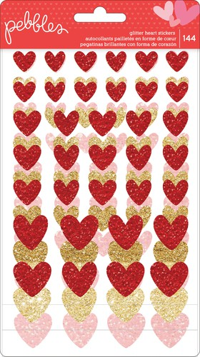 My Funny Valentine Glitter Heart Stickers