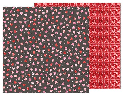 Papel de 30x30 Scattered Hearts. My Funny Valentine