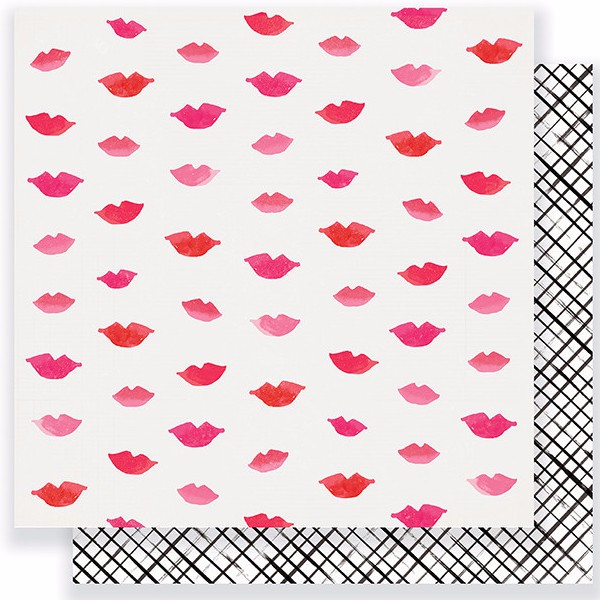 Papel de 30x30 Pucker Up. Heart Day