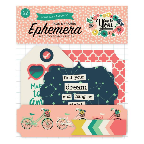 Ephemera Pack Frames & Tags Just Be You
