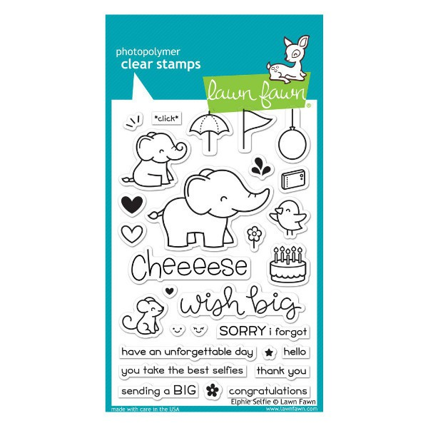 Sellos Elphie Selfie Stamps - Lawn Fawn