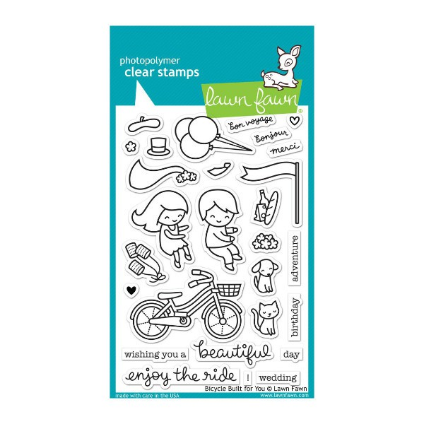 Bicycle Built for You Stamps - Lawn Fawn