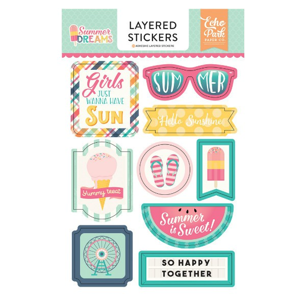 Layered Stickers Summer Dreams