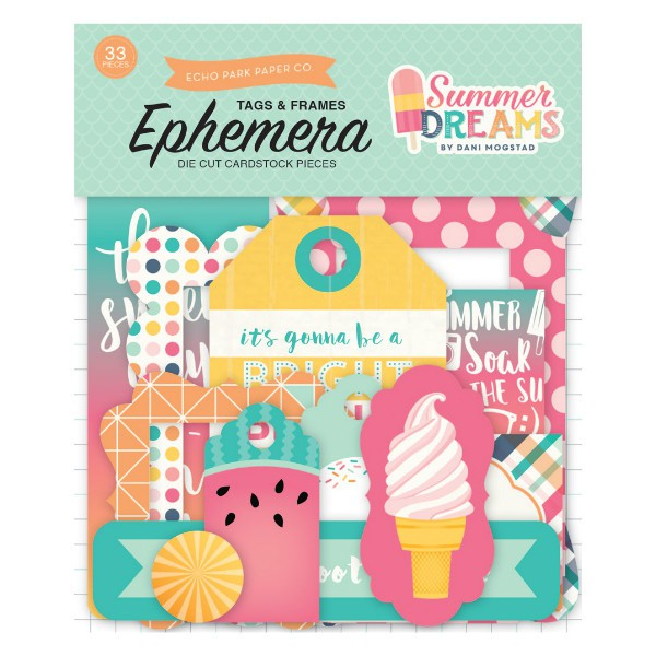 Ephemera Frames & Tags Summer Dreams