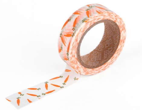 Cinta adhesiva masking tape washi carrot 15mm.x10m.
