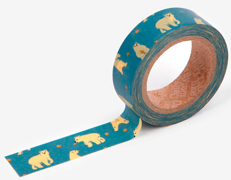Cinta adhesiva masking tape washi friendly bear 15mm.x10m.