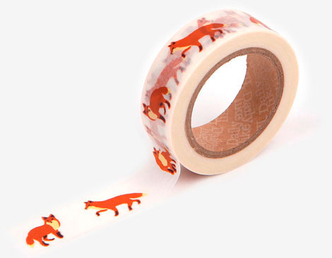 Cinta adhesiva masking tape washi winter fox 15mm.x10m.