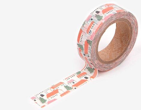 Cinta adhesiva masking tape washi czech village 15mm.x10m.
