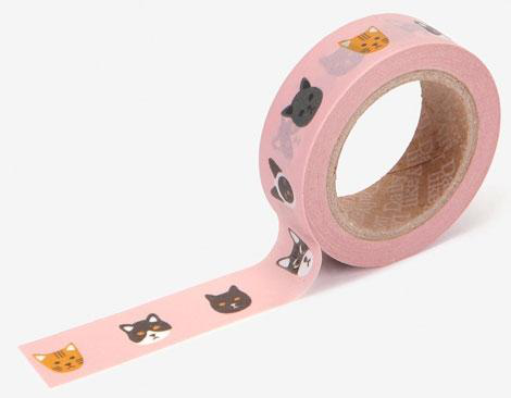 Cinta adhesiva masking tape washi kitty 15mm.x10m.