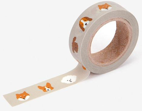Cinta adhesiva masking tape washi puppy 15mm.x10m.