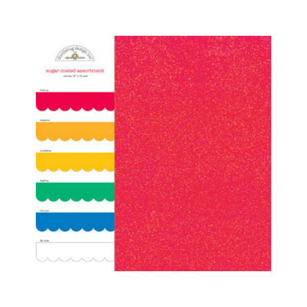 Glitter Cardstock Pack Primary