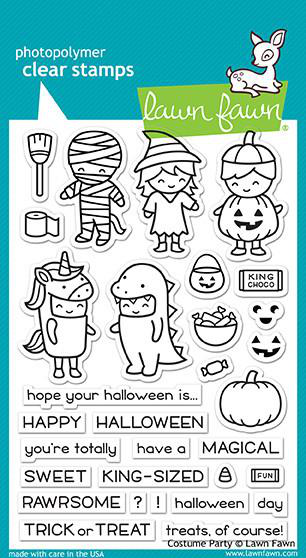 Costume Party Stamps. Lawn Fawn