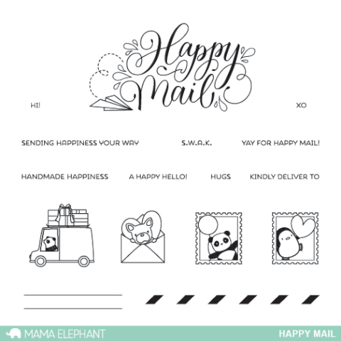 Sellos Mama Elephant - Happy Mail