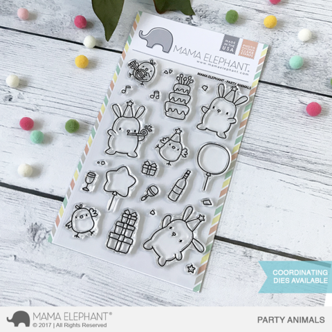 Sellos Mama Elephant - Party Animals