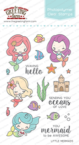 Sellos The Greeting Farm - Little Mermaids