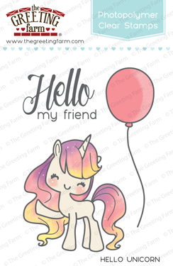 Sellos The Greeting Farm - Hello Unicorn