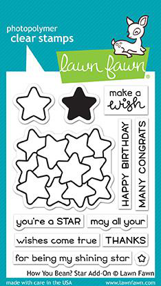 Sellos Lawn Fawn - How you bean? Star add-on