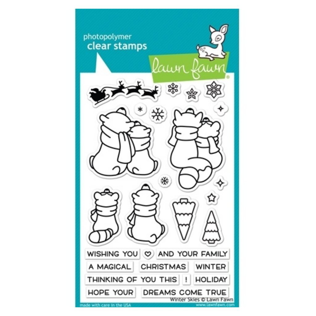 Sellos Lawn Fawn - Winter Skies Stamps