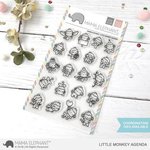 Sellos Mama Elephant - Little Monkey Agenda