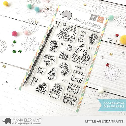 Sellos Mama Elephant - Little Agenda Trains