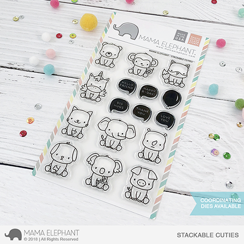 Sellos Mama Elephant - Stackable Cuties