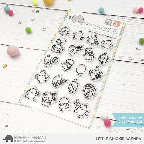 Sellos Mama Elephant - Little Chickie Agenda