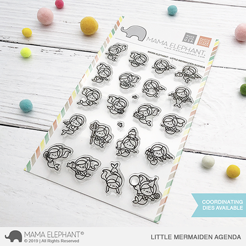 Sellos Mama Elephant - Little Mermaiden Agenda