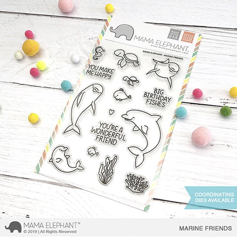 Sellos Mama Elephant - Marine Friends