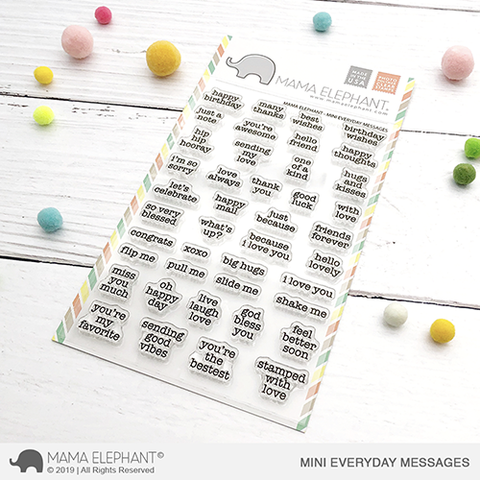 Sellos Mama Elephant - Mini Everyday Messages
