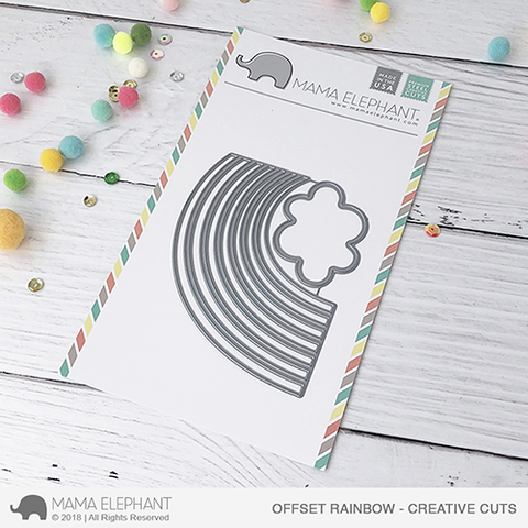 Mama Elephant - Offset Rainbow - Creative Cuts