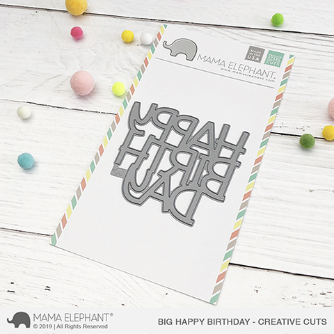Mama Elephant - Big Happy Birthday - Creative Cuts
