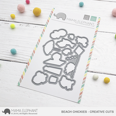 Mama Elephant - Beach Chickies - Creative Cuts