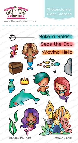 Sellos The Greeting Farm - Make a Splash