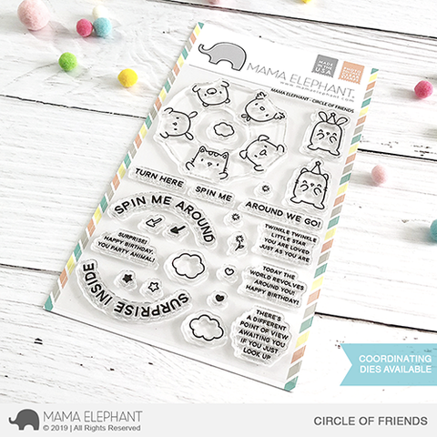 Sellos Mama Elephant - Circle of Friends