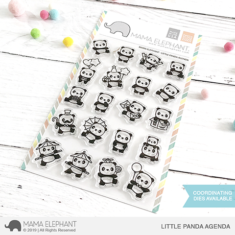 Sellos Mama Elephant - Little Panda Agenda