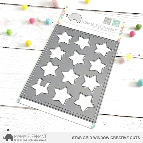 Mama Elephant - Star Grid Window - Creative Cuts