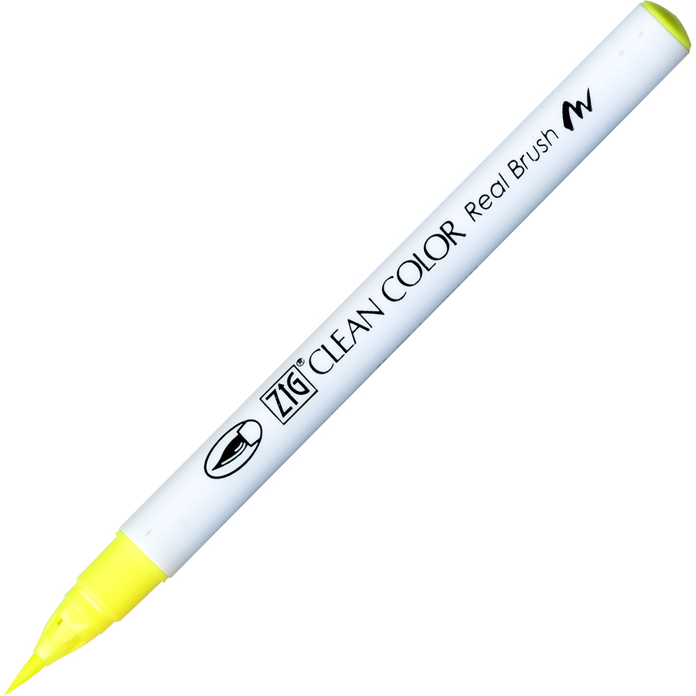 Rotulador Zig Clean Color Real Brush 001 Yellow Flourecente