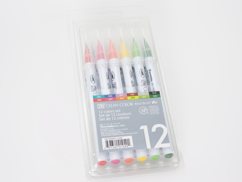 Set 12 Rotuladores Zig Clean Color Real Brush