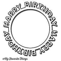 Happy Birthday Circle Frame Die-namics