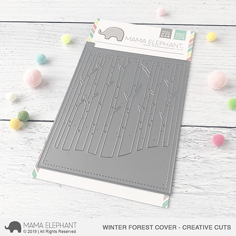 Mama Elephant - Winter Forest Cover - Creative Cuts