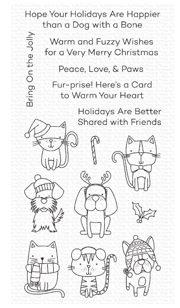 Set de sellos My Favorite Things - Peace, Love, & Paws WS