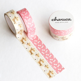 Set  washi tape. Perritos y huesos