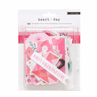 Ephemera Pack. Heart Day