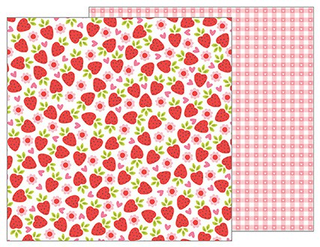 Papel de 30x30 Fresh Strawberries. My Funny Valentine