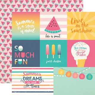 Papel 30x30 Multi Journaling Cards Summer Dreams
