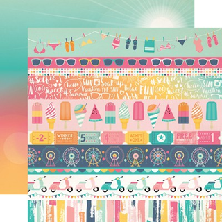 Papel 30x30 Border Strips Summer Dreams