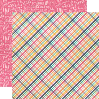 Papel 30x30Summer Lovin Plaid Summer Dreams