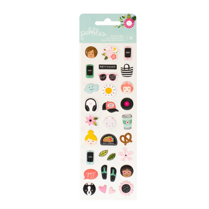 Mini Puffy Stickers Girl Squad
