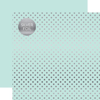 Silver Foil Dots Light Mint Papel de 30 x 30.