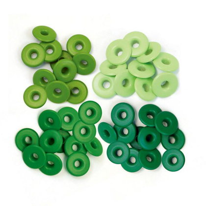 Ojales Green. Wide Eyelets.